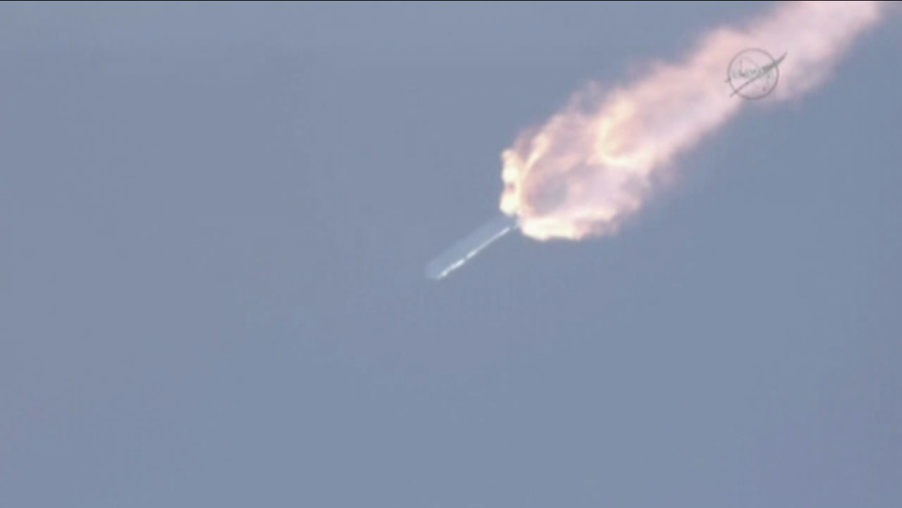 An unmanned rocket exploded two minutes after takeoff from Cape Canaveral, Florida on Sunday, June 28, 2015.