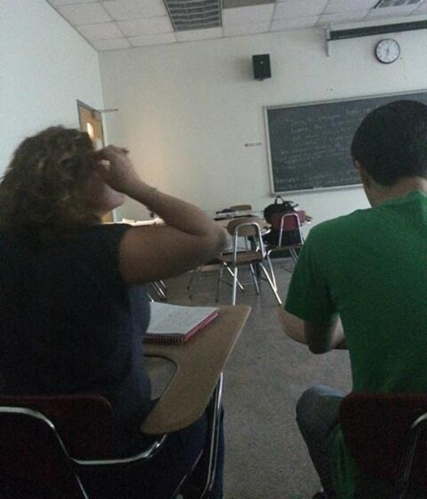 """<div class=""""meta image-caption""""><div class=""""origin-logo origin-image """"><span></span></div><span class=""""caption-text"""">Police were called to the Community College of Philadelphia Wednesday after a report of a person with a weapon. @Nigeria1diva sent us this image from inside a classroom.</span></div>"""
