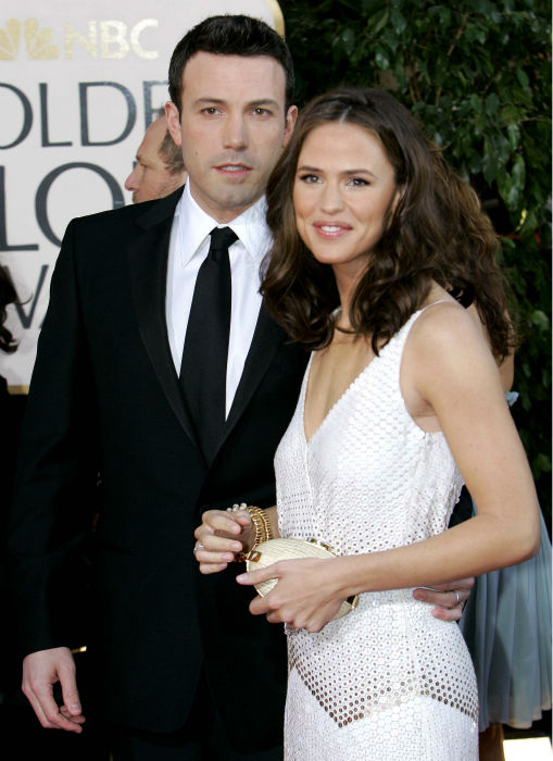 <div class='meta'><div class='origin-logo' data-origin='none'></div><span class='caption-text' data-credit='AP Photo/ Mark J. Terrill'>In this Jan. 15, 2007 file photo, Ben Affleck, left, and Jennifer Garner arrive for the 64th Annual Golden Globe Awards in Beverly Hills, Calif. (AP Photo/Mark J. Terrill, File)</span></div>