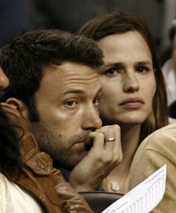 <div class='meta'><div class='origin-logo' data-origin='none'></div><span class='caption-text' data-credit='AP Photo/ Winslow Townson'>Actor Ben Affleck and his wife, actress Jennifer Garner, watch the Boston Celtics in Boston on Sunday, May 17, 2009. (AP Photo/Winslow Townson)</span></div>