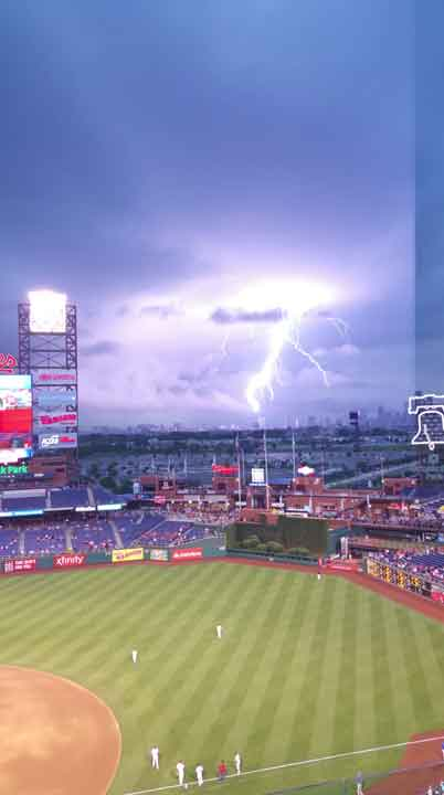 "<div class=""meta image-caption""><div class=""origin-logo origin-image none""><span>none</span></div><span class=""caption-text"">June 30, 2015: Action News viewer Monica Johnson sent in this picture of lightning at Citizens Bank Park before Tuesday night's Phillies game.</span></div>"