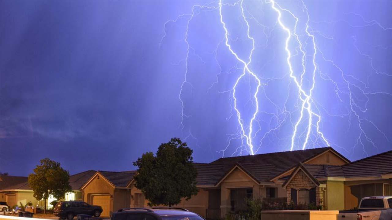 Lightning Storm Rolls Through Fresno Abc7news Com