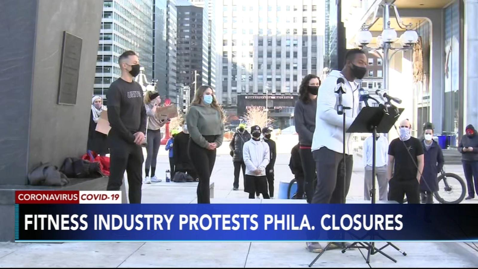 Philadelphia Fitness Coalition protesting restrictions on city gyms amid coronavirus pandemic