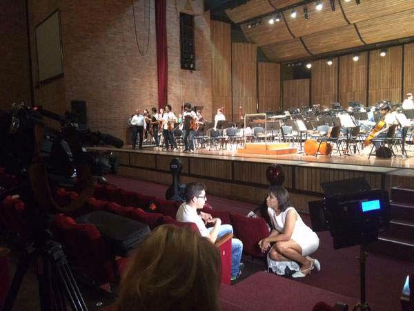 "<div class=""meta image-caption""><div class=""origin-logo origin-image none""><span>none</span></div><span class=""caption-text"">Gina Gaston working on a special of the Houston Symphony (KTRK Photo)</span></div>"