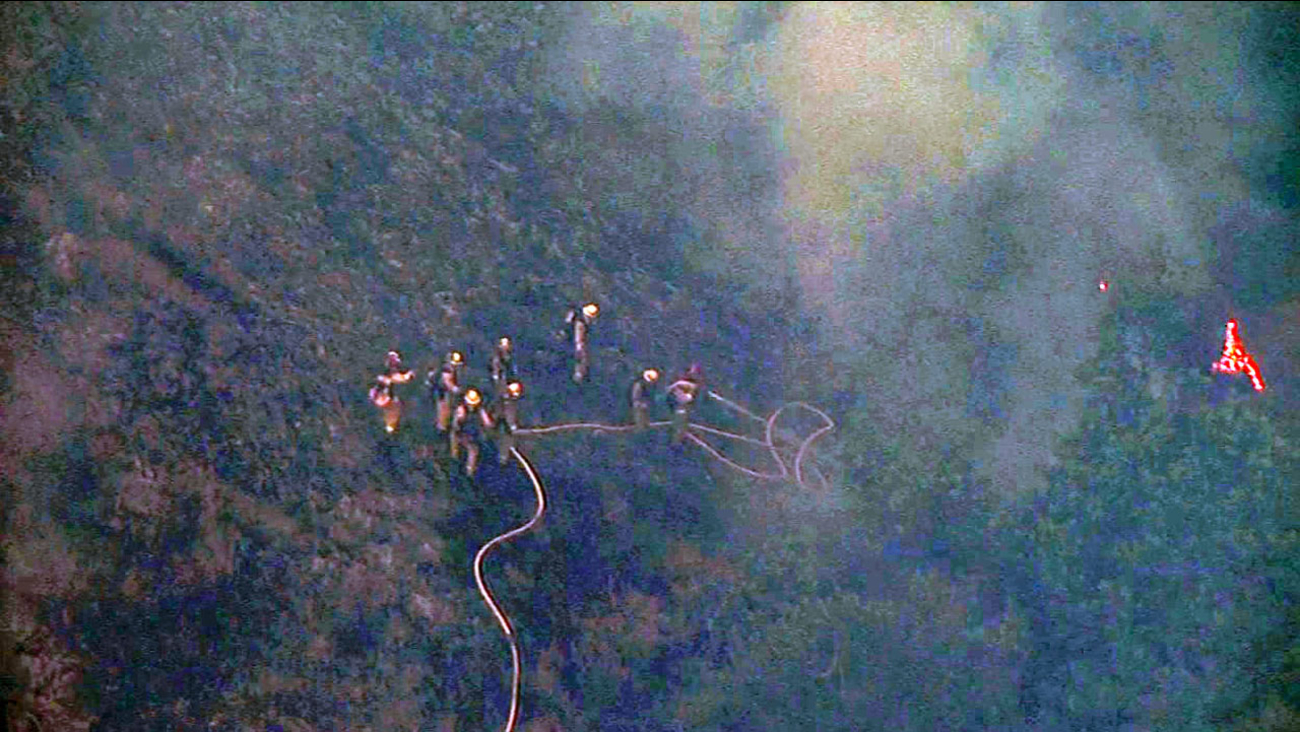 Brush fire in Sunol Regional Wilderness, Thursday, July 1, 2015.