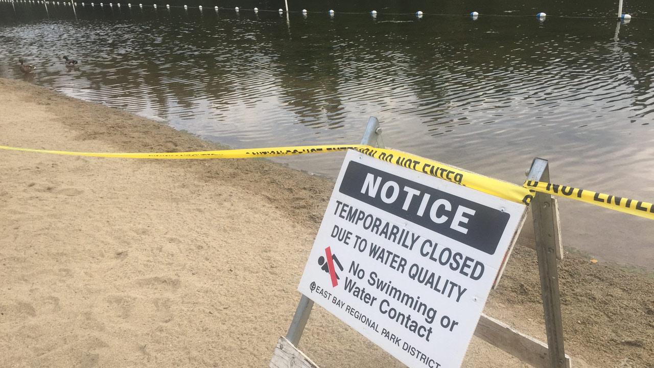 Lake Temescal closed, Thursday, June 2, 2015.