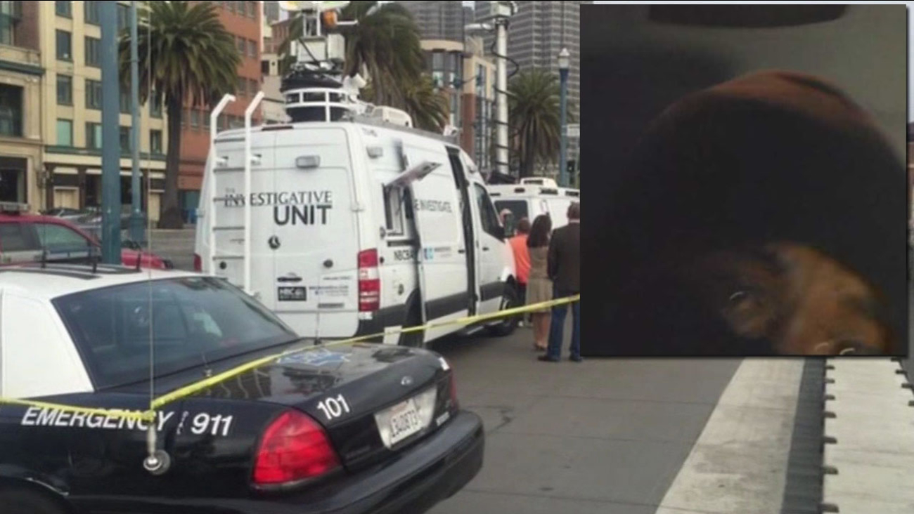 Two television news were robbed at gunpoint in San Francisco, Thursday, July 1, 2015.