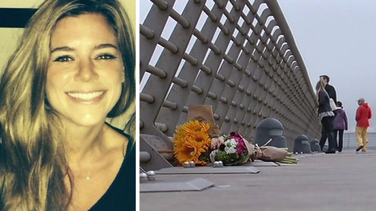 Flowers on Pier 14 where Kate Steinle was shot