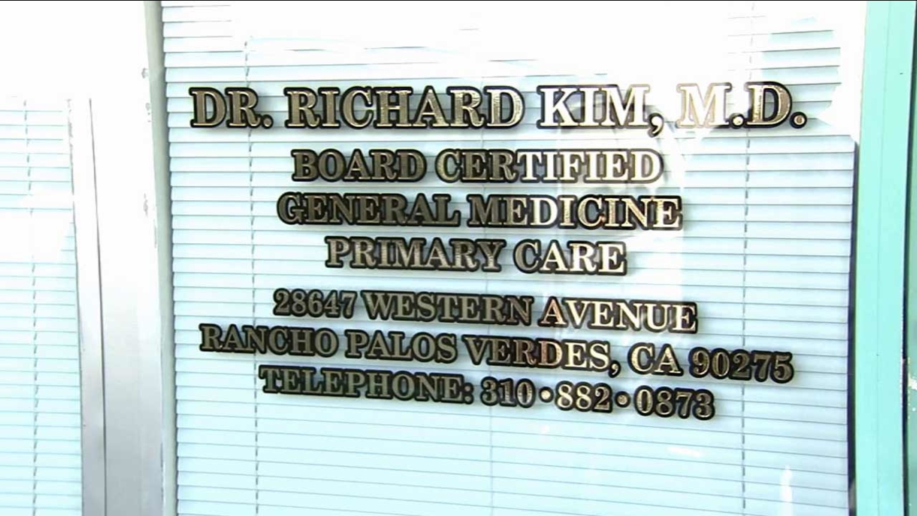 Dr. Richard Seongjun Kim, 42, of Rancho Palos Verdes was arrested Wednesday, July 1, 2015 on 21 counts of illegally prescribing drugs with no legitimate medical need to undercover DEA agents.