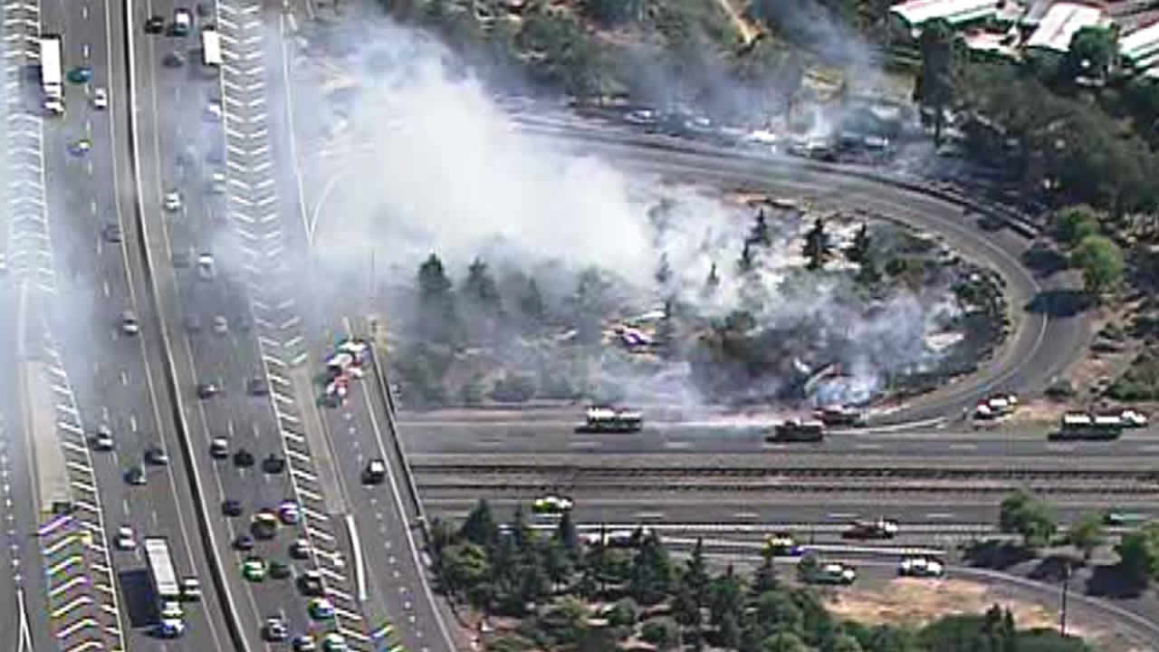 Vallejo fire near I-780