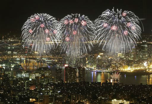 "<div class=""meta image-caption""><div class=""origin-logo origin-image none""><span>none</span></div><span class=""caption-text"">Macy's Fourth of July fireworks light up the sky over the East River, Saturday, July 4, 2015 in New York in a view from One World Observatory. (AP Photo/Mark Lennihan) (AP Photo/ Mark Lennihan)</span></div>"