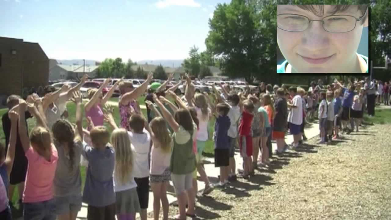 Nate has cerebral palsy, and the celebration was for his walking his 500th mile during recess.