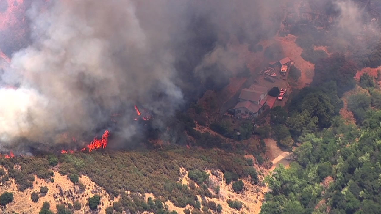 A 6-alarm, 150-acre vegetation fire in rural unincorporated Solano County, Calif. began on Monday, July 6, 2015.