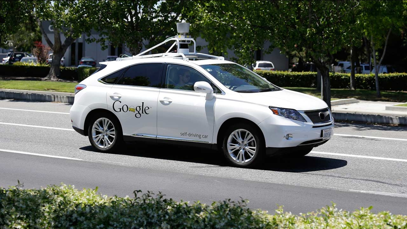 Google self-driving car goes on a test drive