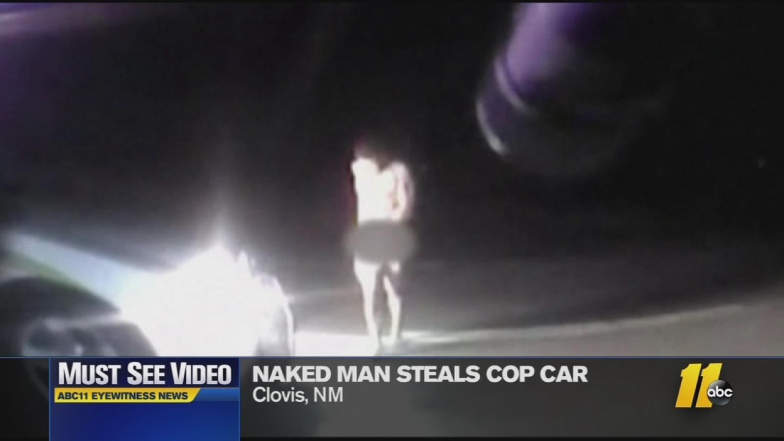 Naked New Mexico man roams streets, steals patrol car