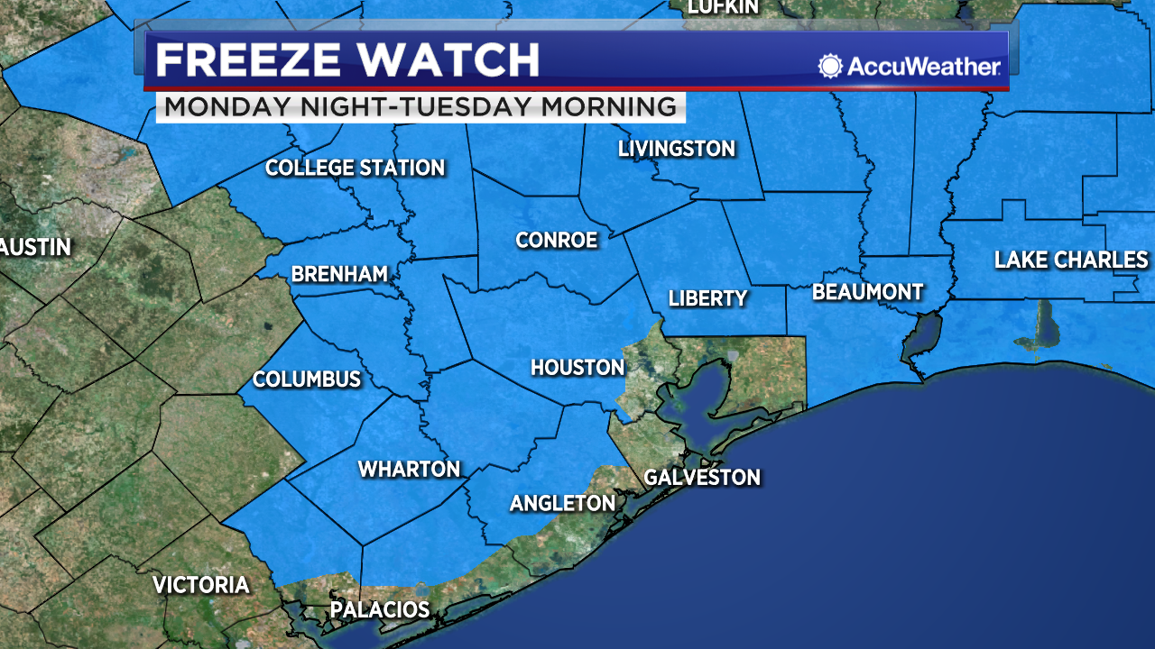 Freeze Watch for Tuesday morning