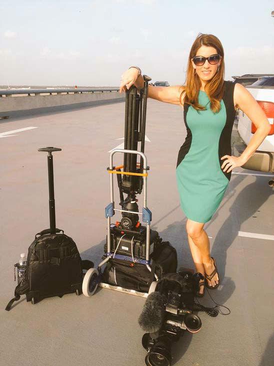"<div class=""meta image-caption""><div class=""origin-logo origin-image none""><span>none</span></div><span class=""caption-text"">Natasha Barrett with all the equipment it takes to make live TV happen (KTRK Photo)</span></div>"