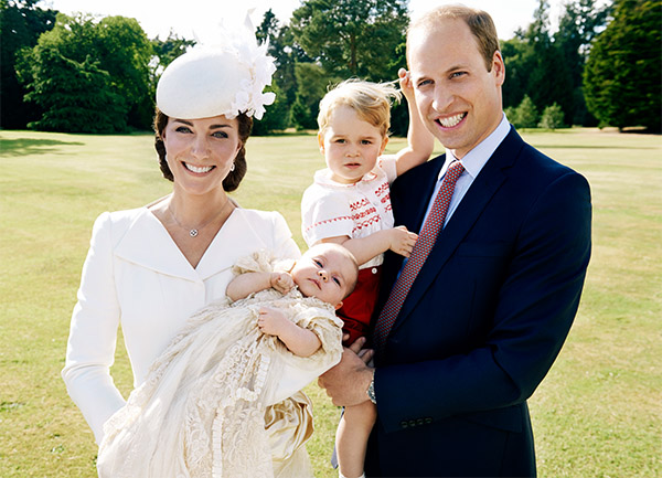 <div class='meta'><div class='origin-logo' data-origin='none'></div><span class='caption-text' data-credit='Getty Images'>Prince William and his wife, Kate, pose for a photo with their children after the christening of Princess Charlotte at the Sandringham Estate on July 5, 2015.</span></div>