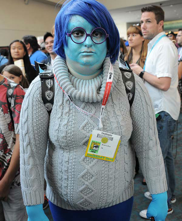 "<div class=""meta image-caption""><div class=""origin-logo origin-image none""><span>none</span></div><span class=""caption-text"">A cosplayer portrays 'Sadness' from 'Inside Out' during Comic-Con International 2015 on July 8, 2015 in San Diego, California. (Albert L. Ortega/Getty Images)</span></div>"