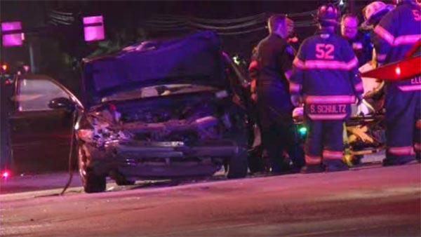 2 hurt after 2-vehicles collide in Glen Mills