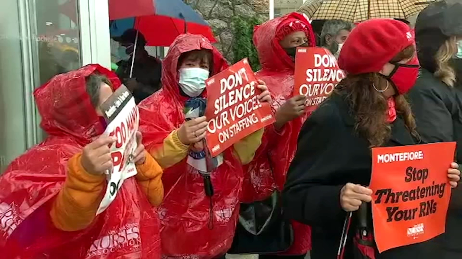 Covid New York Nurses At Montefiore New Rochelle Hospital Stage 2 Day Strike Amid Coronavirus Spike Abc7 New York