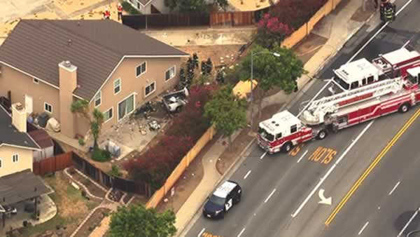A car crashed into a home on the 3200 block of Sprucegate Court in San Jose, Calif. on Friday, July 10, 2015.