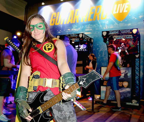 "<div class=""meta image-caption""><div class=""origin-logo origin-image none""><span>none</span></div><span class=""caption-text"">Fans experience Guitar Hero Live during Comic-Con International 2015 on July 10, 2015 in San Diego, California. (Imeh Akpanudosen/Getty Images for Activision)</span></div>"