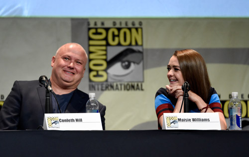 "<div class=""meta image-caption""><div class=""origin-logo origin-image none""><span>none</span></div><span class=""caption-text"">Conleth Hill, left, and Maisie Williams attend the ""Game of Thrones"" panel on day 2 of Comic-Con International on Friday, July 10, 2015, in San Diego, Calif. (Photo by Chris Pizzello/Invision/AP)</span></div>"