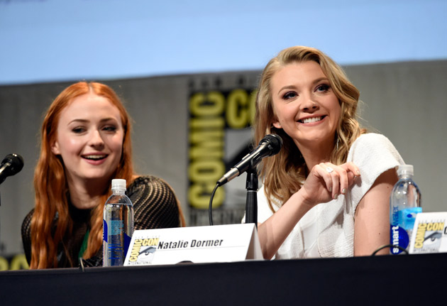 "<div class=""meta image-caption""><div class=""origin-logo origin-image none""><span>none</span></div><span class=""caption-text"">Sophie Turner, left, and Natalie Dormer attend the ""Game of Thrones"" panel on day 2 of Comic-Con International on Friday, July 10, 2015, in San Diego, Calif. (Photo by Chris Pizzello/Invision/AP)</span></div>"