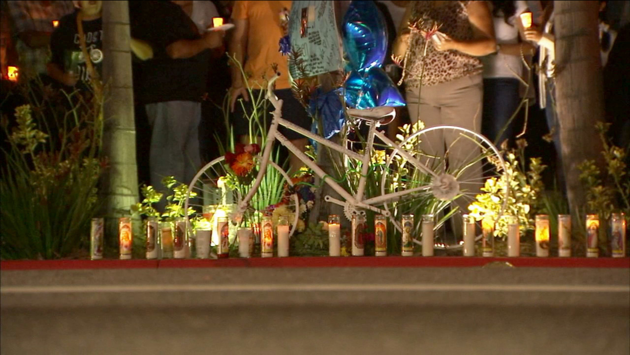 Dozens gathered in Montebello to remember a bicyclist who was killed by a hit-and run driver on Saturday, July 11, 2015.