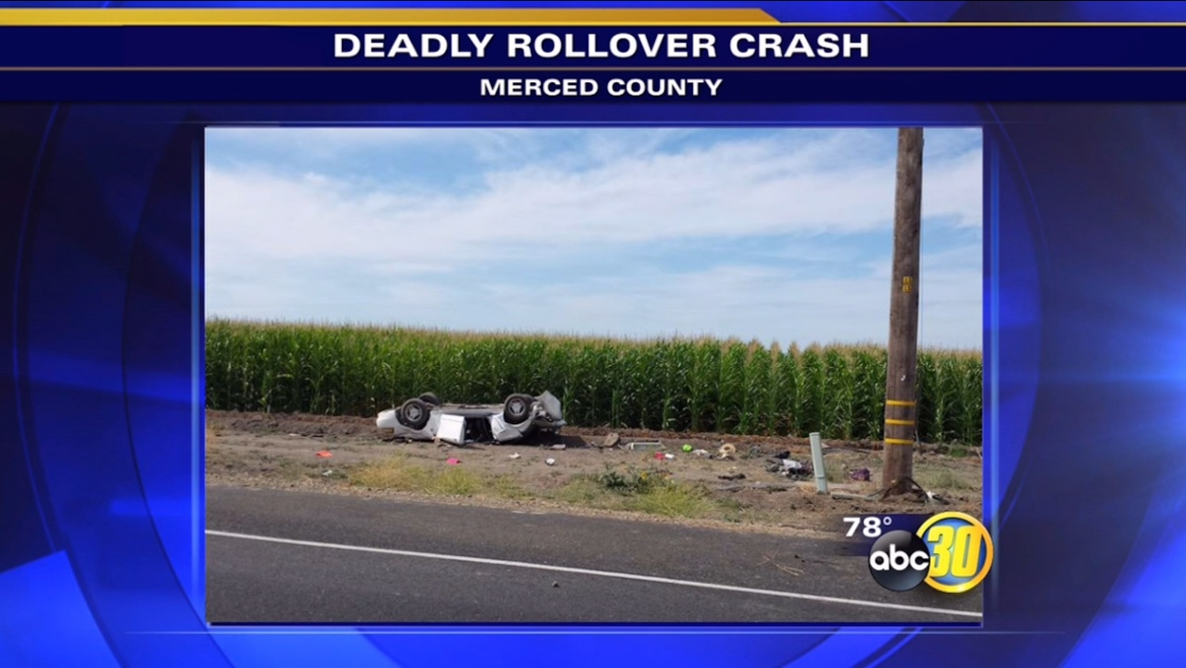 Woman dead after car overturns on Highway 152 in Merced County