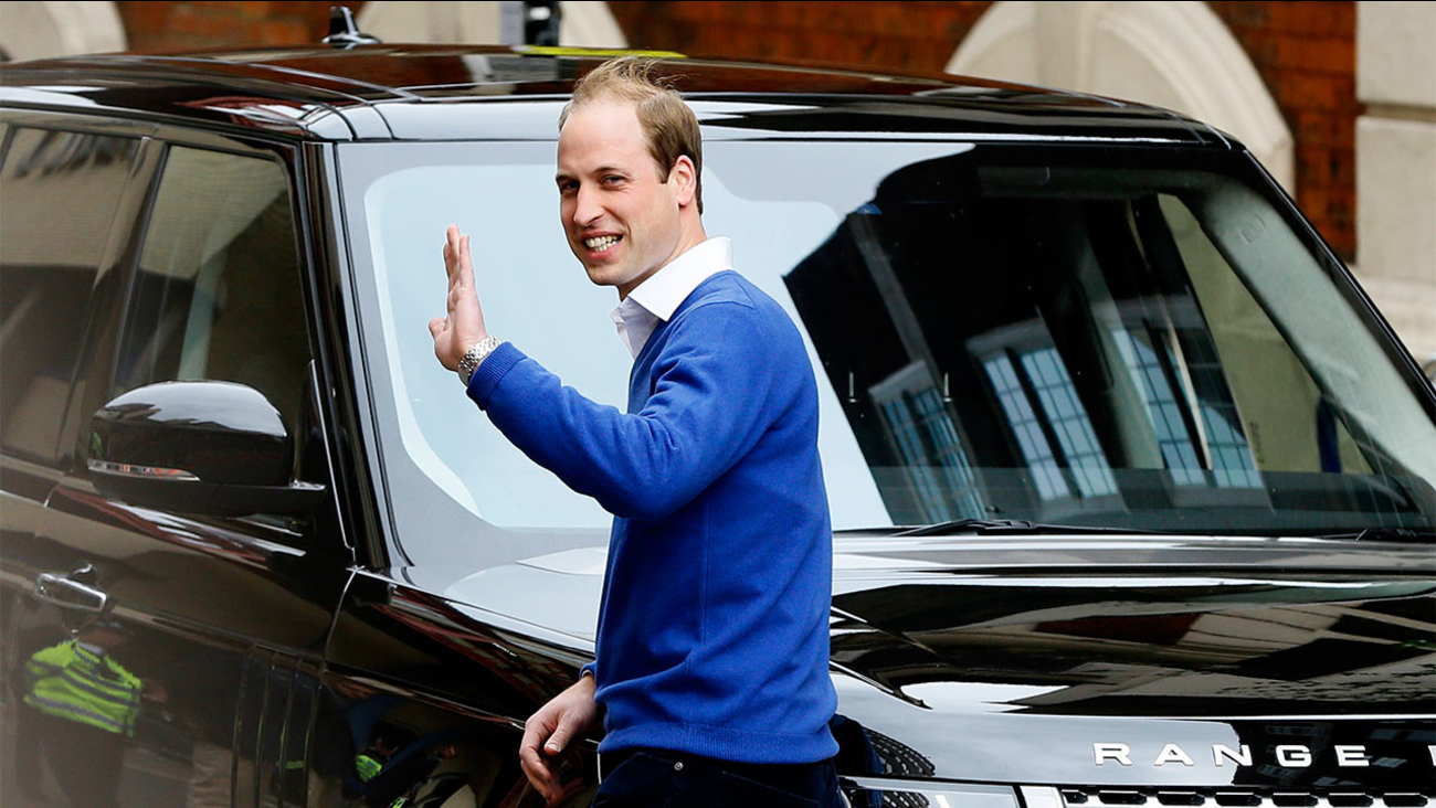 Britain's Prince William waves