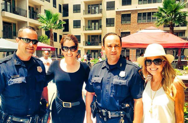 """<div class=""""meta image-caption""""><div class=""""origin-logo origin-image none""""><span>none</span></div><span class=""""caption-text"""">Natasha and Katherine worked with some Houston police officers this weekend (KTRK Photo)</span></div>"""