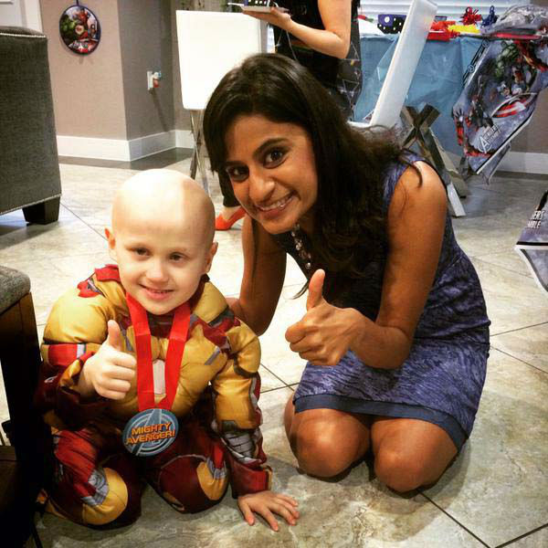 """<div class=""""meta image-caption""""><div class=""""origin-logo origin-image none""""><span>none</span></div><span class=""""caption-text"""">Pooja Lodhia got the chance to meet Billy, the little boy who has been fighting cancer for two years (KTRK Photo)</span></div>"""