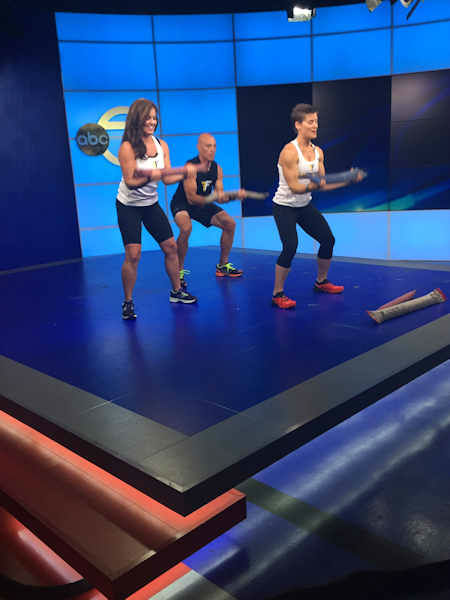 """<div class=""""meta image-caption""""><div class=""""origin-logo origin-image none""""><span>none</span></div><span class=""""caption-text"""">Sarah Apgar, the founder of Fitfighter Training and inventor of the Steelhose system, and Matt Long, a competitive athlete and firefighter joined us in the studio.</span></div>"""