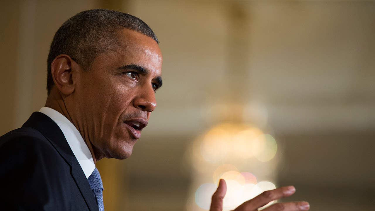 President Barack Obama speaks in the East Room of the White House in Washington, Monday, July 13, 2015