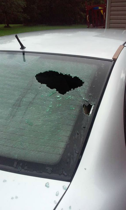 "<div class=""meta image-caption""><div class=""origin-logo origin-image none""><span>none</span></div><span class=""caption-text"">Hail damaged a vehicle in Marseilles, Ill. (Tiffany Henning)</span></div>"