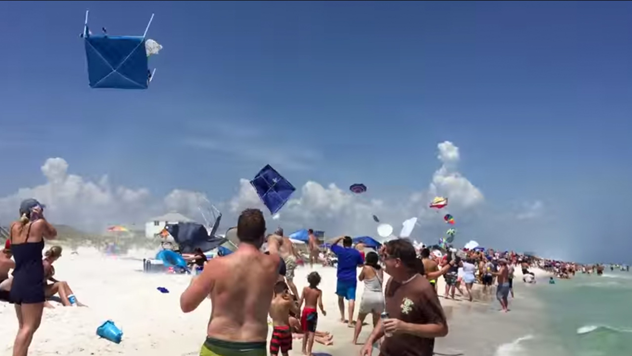 Video Beach Tents And Umbrellas Fly Into The Air After Blue Angels Flyby Abc13