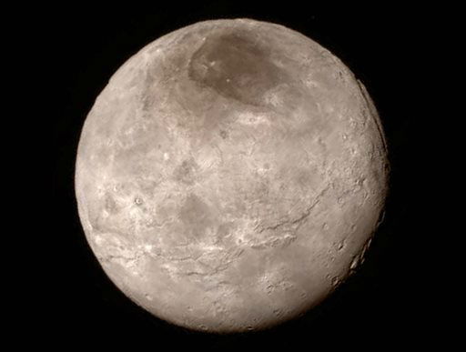 "<div class=""meta image-caption""><div class=""origin-logo origin-image none""><span>none</span></div><span class=""caption-text"">This Tuesday, July 14, 2015 image provided by NASA on Wednesday shows Pluto's largest moon, Charon, made by the New Horizons spacecraft. (NASA/JHUAPL/SwRI via AP)</span></div>"