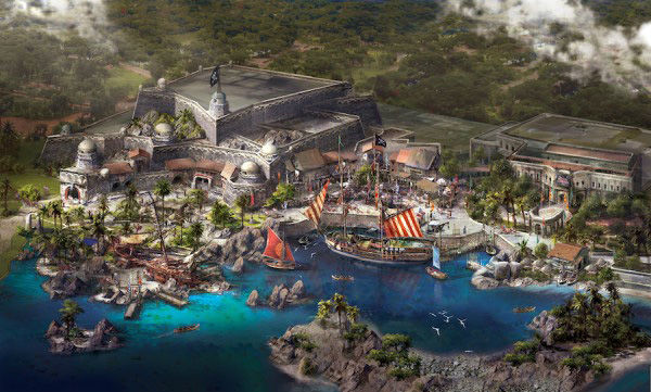 """<div class=""""meta image-caption""""><div class=""""origin-logo origin-image none""""><span>none</span></div><span class=""""caption-text"""">Treasure Cove will feature the thrilling Pirates of the Caribbean: Battle of the Sunken Treasure boat ride, based off of the popular films starring Johnny Depp. (Disney Insider)</span></div>"""