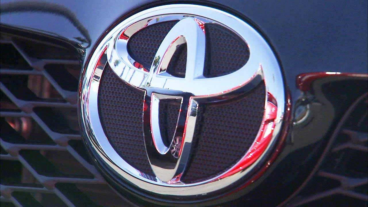 A Toyota logo is seen in this undated file photo.