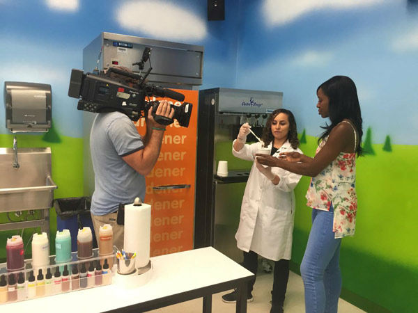"<div class=""meta image-caption""><div class=""origin-logo origin-image none""><span>none</span></div><span class=""caption-text"">Melissa Magee makes her own ice cream at the Turkey Hill Experience in Lancaster. (WPVI Photo)</span></div>"