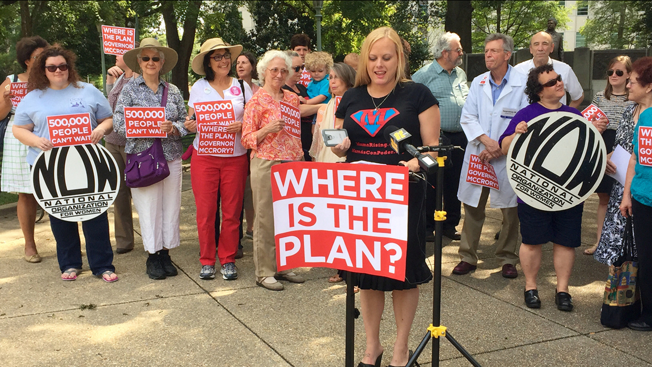 Health Care advocates at the Where is the Plan rally in Raleigh