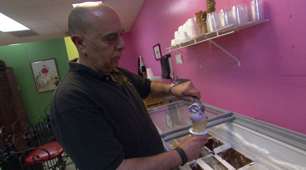 "<div class=""meta image-caption""><div class=""origin-logo origin-image none""><span>none</span></div><span class=""caption-text"">Vincent Amico discovered his love of ice cream n his retirement years and now owns his own shop - Vincent's Homemade - in Mount Holly, New Jersey.</span></div>"