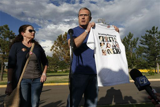 """<div class=""""meta image-caption""""><div class=""""origin-logo origin-image none""""><span>none</span></div><span class=""""caption-text"""">Tom Teves and his wife Caren, who lost their son Alex in the 2012 Aurora movie theatre massacre, speak to members of the media (AP Photo/ Brennan Linsley)</span></div>"""