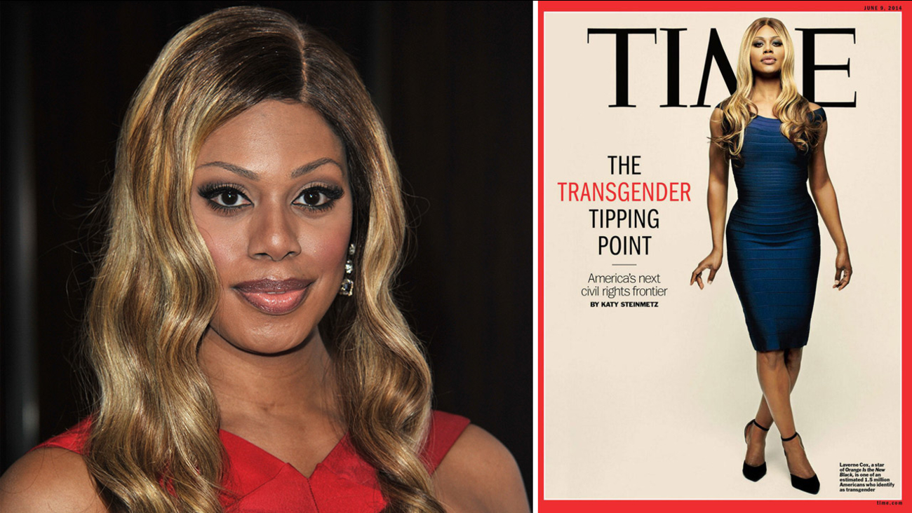 Laverne Cox at the 25th Annual GLAAD Media Awards on Saturday, April 12, 2014. / Cox appears on the June 9, 2014 cover of Time magazine.