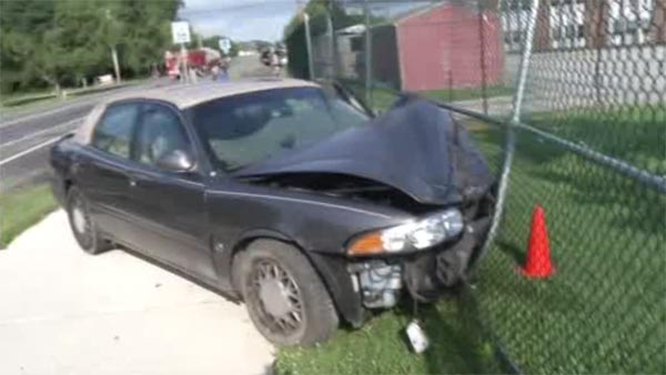 Stolen vehicle slams into parked cars in Delaware