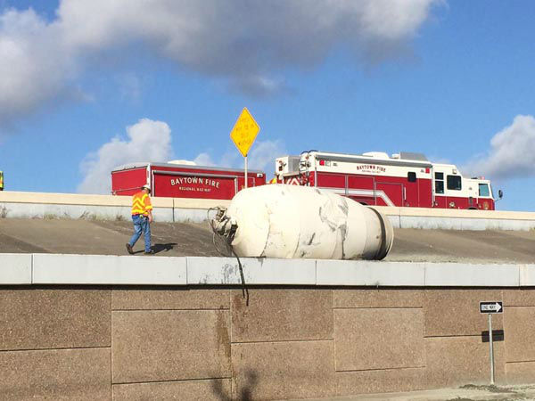 """<div class=""""meta image-caption""""><div class=""""origin-logo origin-image none""""><span>none</span></div><span class=""""caption-text"""">An overturned cement truck shut down several lanes of the Spur 330 at Rollingbrook (KTRK Photo)</span></div>"""