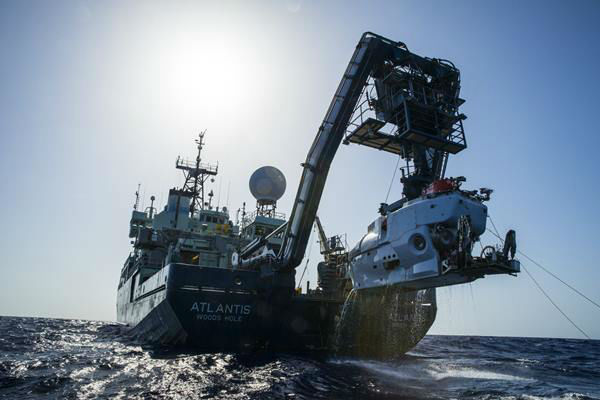 "<div class=""meta image-caption""><div class=""origin-logo origin-image none""><span>none</span></div><span class=""caption-text"">The research vessel Atlantis with the submersible Alvin hanging off its stern. (credit: Luis Lamar, Woods Hole Oceanographic Institution)</span></div>"