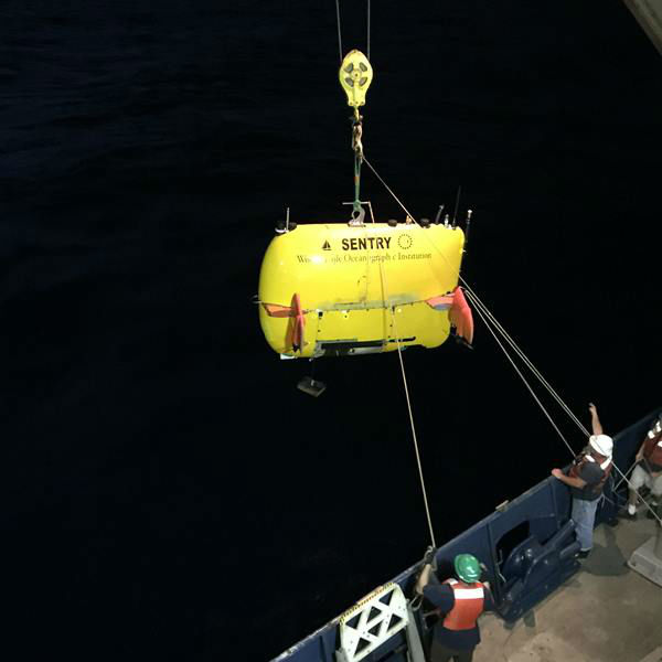 "<div class=""meta image-caption""><div class=""origin-logo origin-image none""><span>none</span></div><span class=""caption-text"">Launch of autonomous underwater vehicle Sentry from the research vessel Atlantis. (credit: Cindy Van Dover, Duke University)</span></div>"